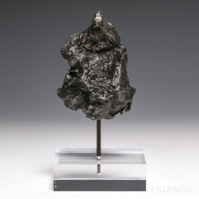Sikhote-Alin Meteorite Shrapnel Fragment from the Sikhote-Alin Mountains, Russia mounted on a bespoke stand | Venusrox