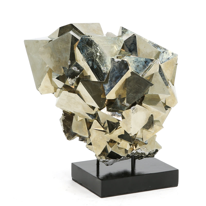Pyrite Natural Cluster from the Huanzala Mine, Huallanca District, Dos de Mayo Province, Huánuco Department, Peru | Venusrox
