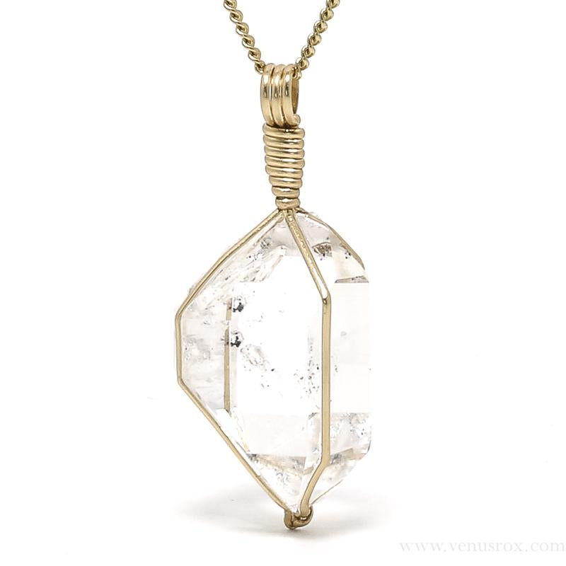 Herkimer 'Diamond' Quartz Pendant from the Ace of Diamonds Mine, Herkimer County, New York State, USA | Venusrox