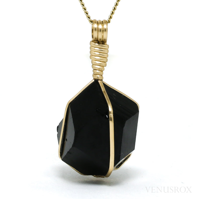 Black Tourmaline Natural Crystal Pendant from the Erongo Mountains, Namibia | Venusrox