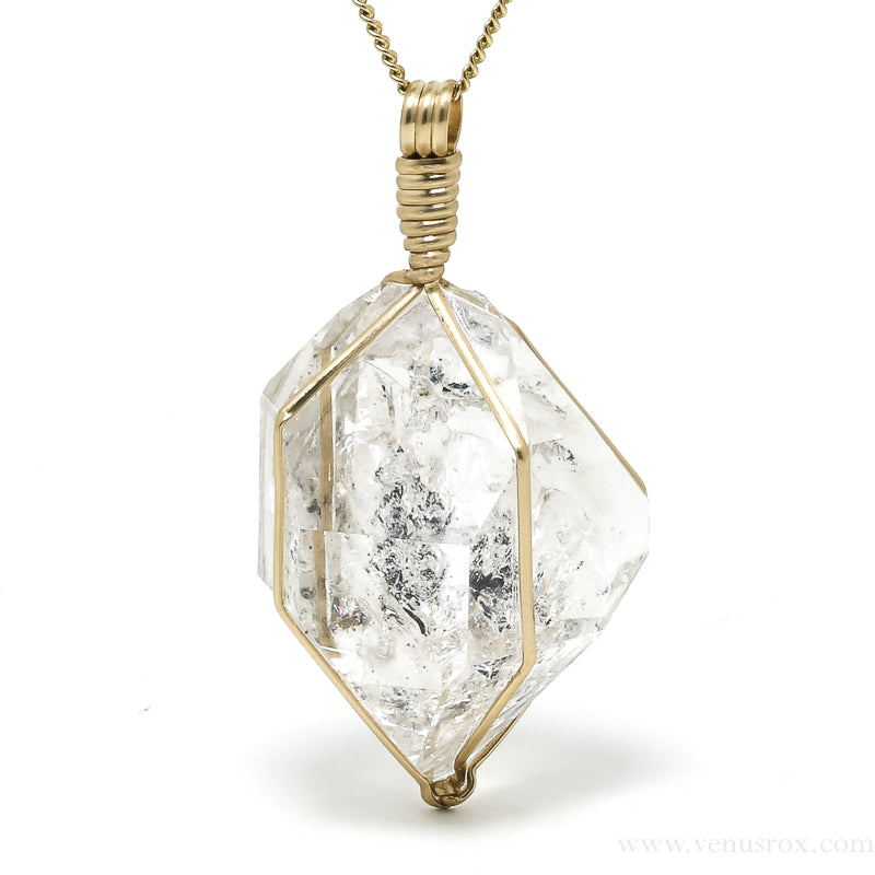 Natural Herkimer 'Diamond' Quartz Pendant from the Ace of Diamonds Mine, Herkimer County, New York State, USA | Venusrox