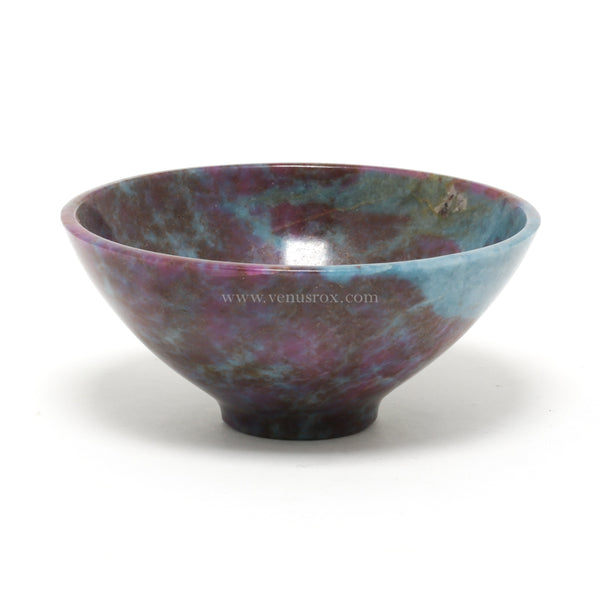 Ruby and Kyanite Polished Bowl from India | Venusrox