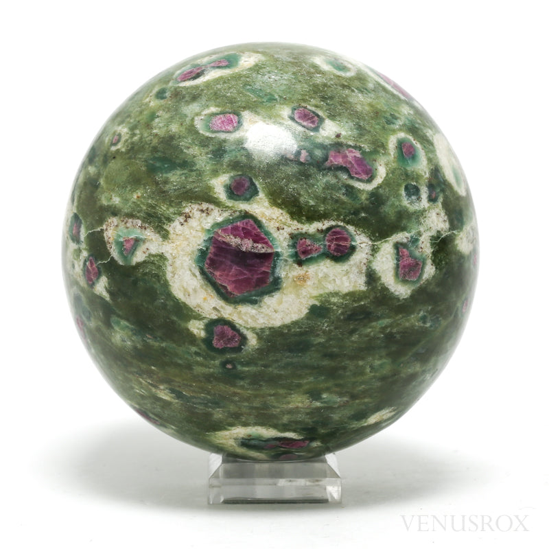 Ruby and Zoisite Polished Sphere from India | Venusrox