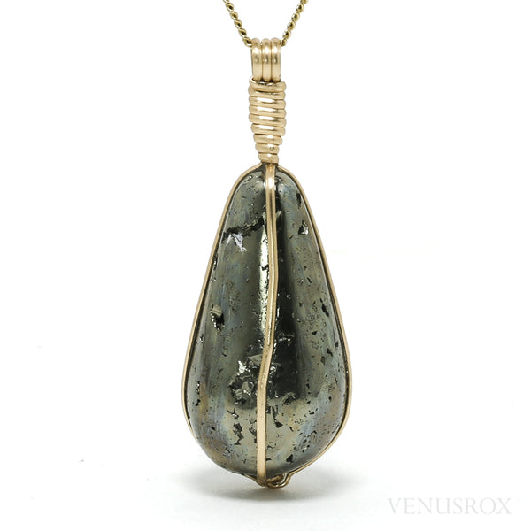 Pyrite Polished Crystal Pendant from Peru | Venusrox
