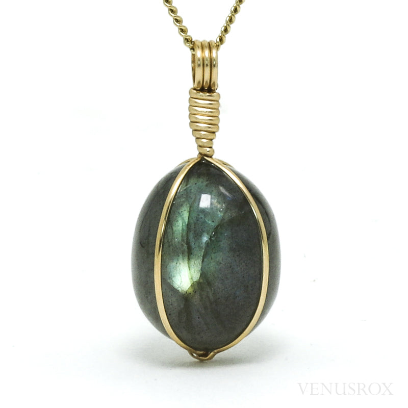 Labradorite Polished Crystal Pendant from Madagascar | Venusrox