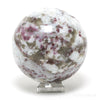 Rubellite (Red Tourmaline) in Quartz & Feldspar Polished Sphere from Madagascar | Venusrox