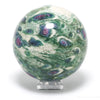 'A Grade' Ruby in Zoisite and Kyanite Polished Sphere from India | Venusrox