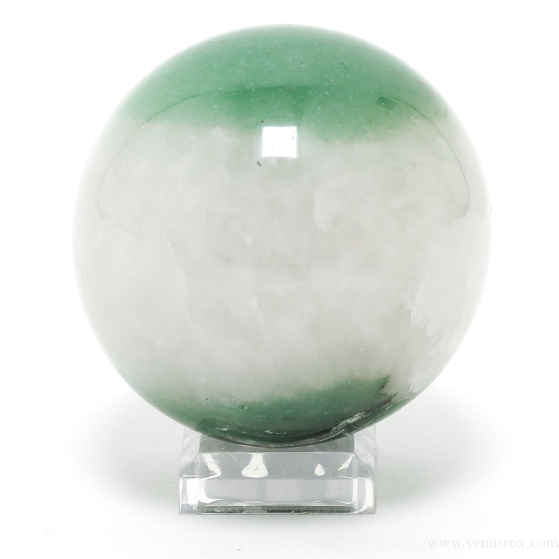 Green Aventurine with Quartz Polished Sphere from Brazil | Venusrox