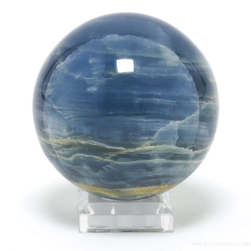 Blue Onyx Sphere from Argentina | Venusrox