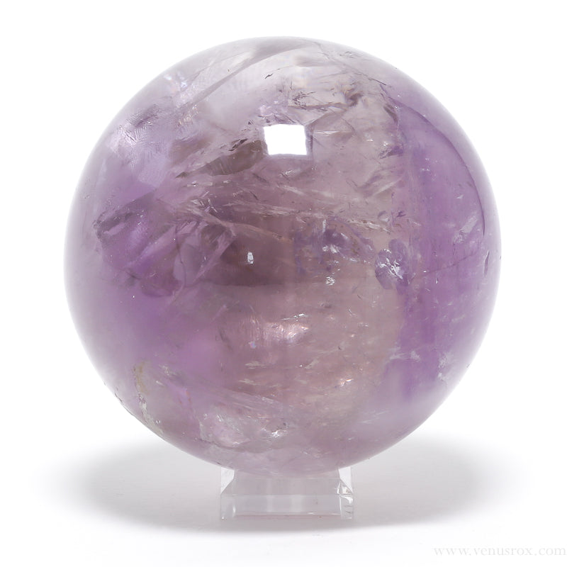 Amethyst (Phantom) Polished Sphere from Brazil | Venusrox