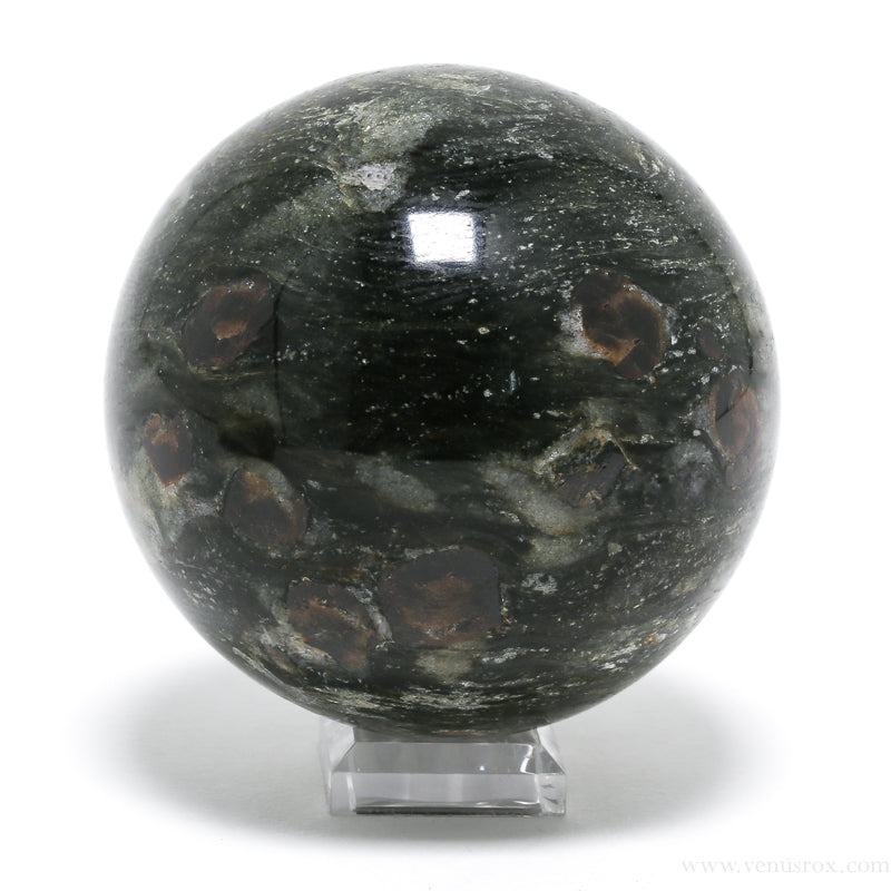 Brown Garnet in Mica Shale Polished Sphere from Steiermark (Styria), Austria | Venusrox