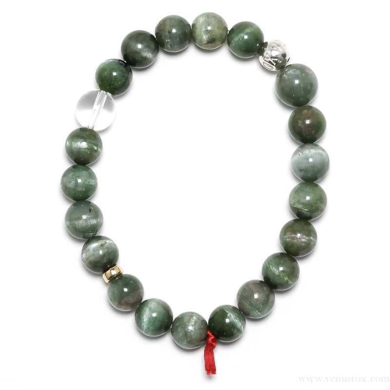 Green Cats Eye Tourmaline Bracelet from Brazil | Venusrox