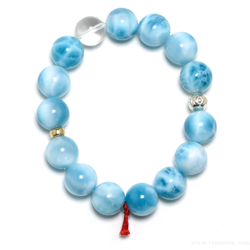 'AAA Grade' Larimar Bracelet from the Dominican Republic | Venusrox