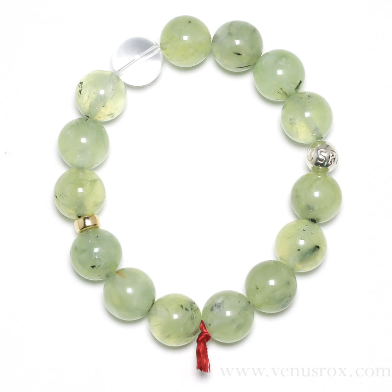 Prehnite with Epidote Bracelet from Mali | Venusrox