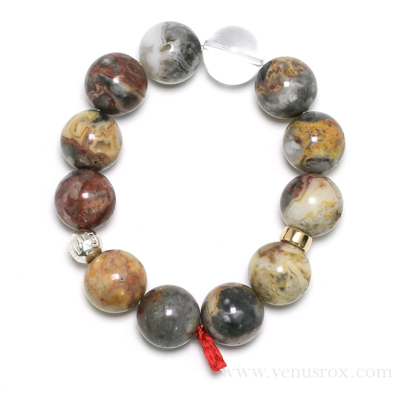 Crazy Lace Agate Bracelet from Mexico | Venusrox
