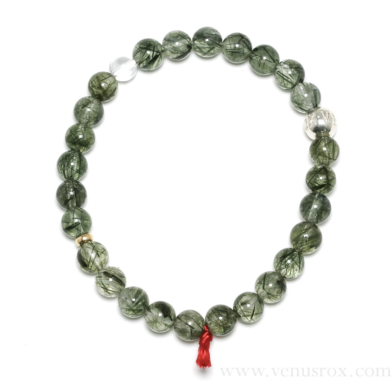 Green Tourmaline in Quartz Bracelet from Brazil | Venusrox