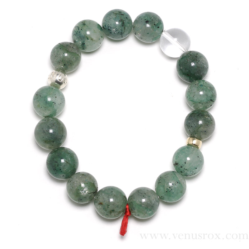 Chrysocolla in Quartz Bracelet from Peru | Venusrox