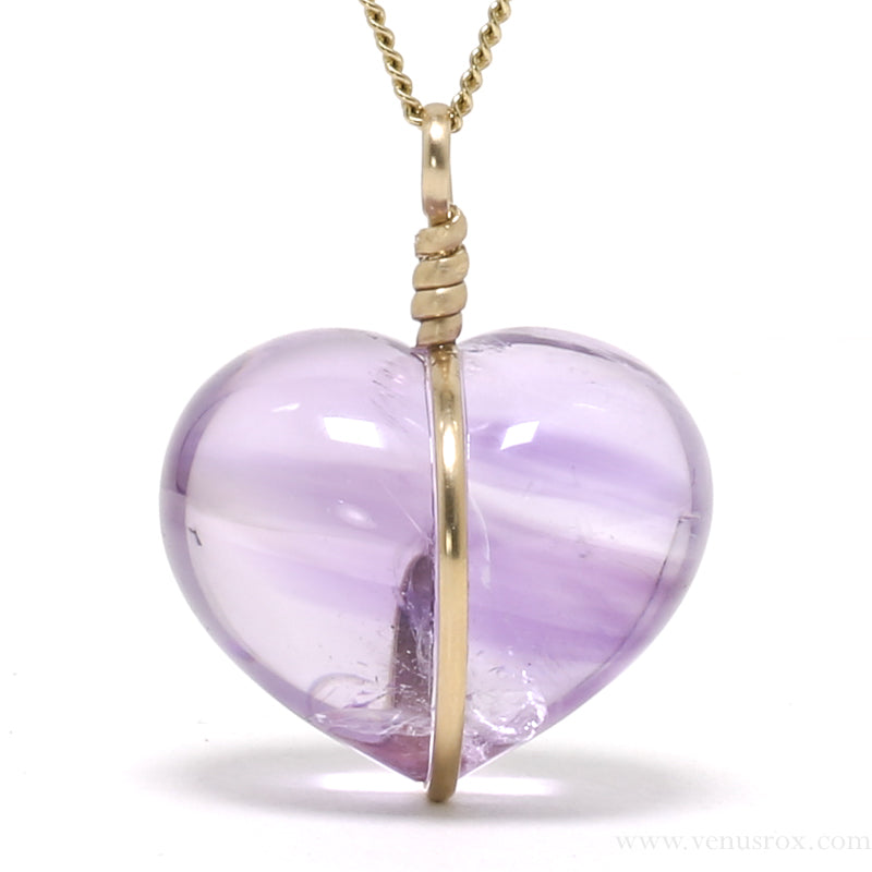 Amethyst Phantom Heart Pendant from Brazil | Venusrox