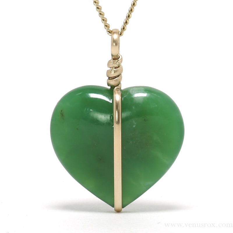 Chrysoprase Polished Heart Pendant from Australia | Venusrox