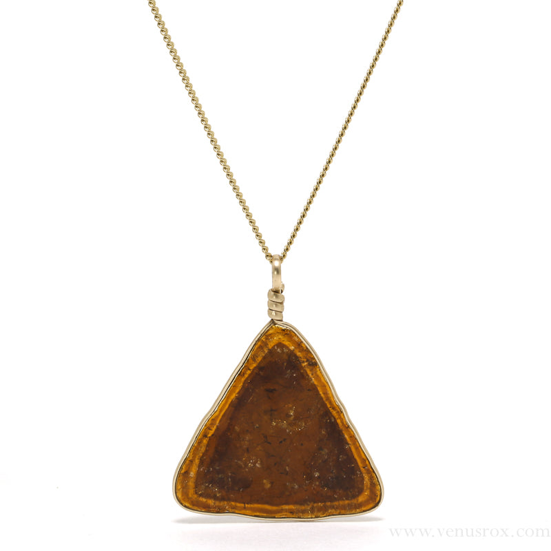 Dravite (Brown) Tourmaline Polished Slice Pendant from Madagascar | Venusrox