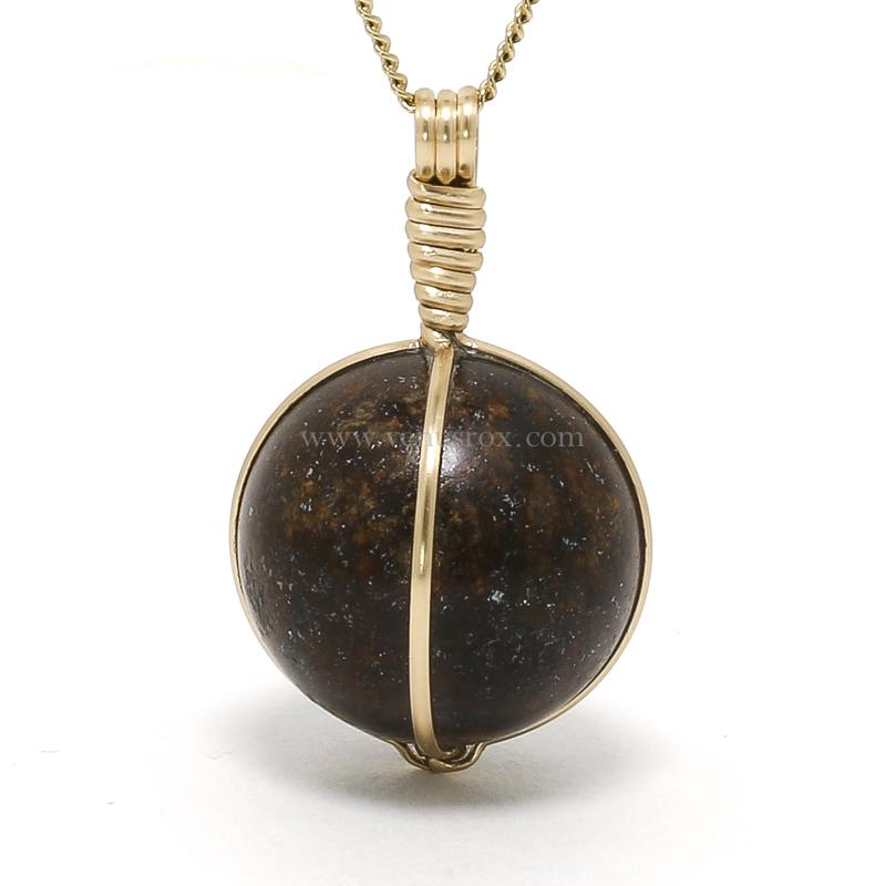 Chondrite (NWA) Meteorite Polished Sphere Pendant from the Sahara Desert, North-West Africa | Venusrox