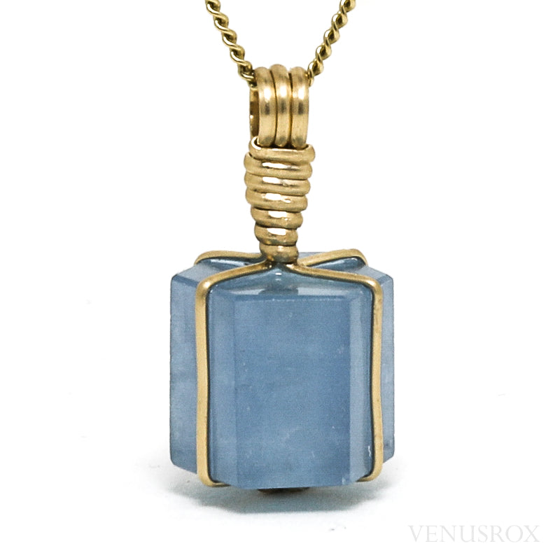 Aquamarine Polished Crystal Pendant from Afghanistan | Venusrox