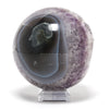 Amethyst with Quartz covered Calcite in Agate Geode Sphere from Brazil | Venusrox