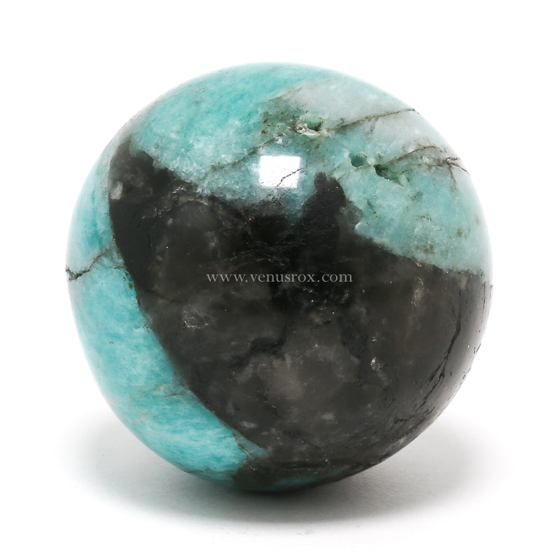 Graphic Amazonite Polished Sphere from Madagascar | Venusrox