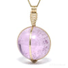 Kunzite Polished Sphere Pendant from Afghanistan | Venusrox