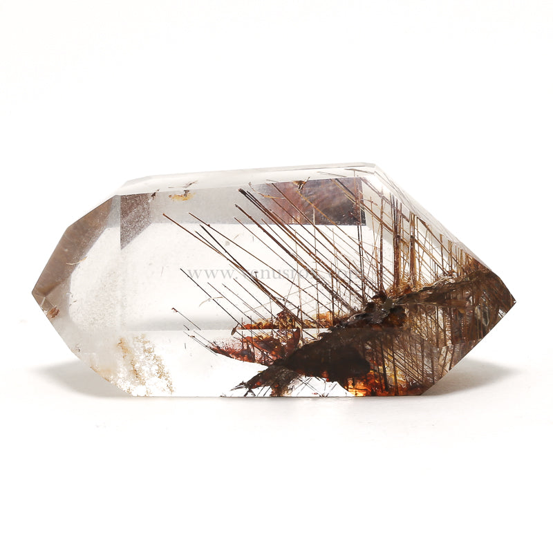 Rutilated Phantom Quartz Double Terminated Polished Point From Brazil | Venusrox