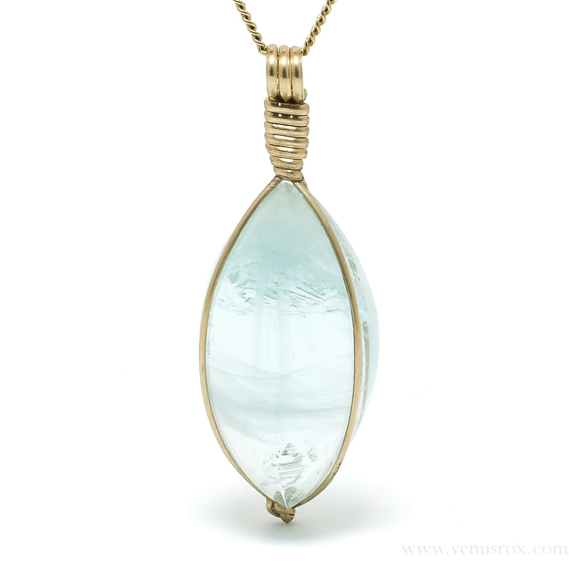 Aquamarine Natural Crystal Pendant from Pakistan | Venusrox