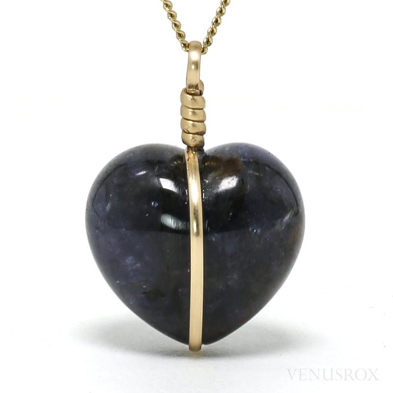 Iolite with Sunstone Polished Heart Pendant from India | Venusrox