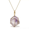Amethyst Phantom Quartz Polished Crystal Pendant from Madagascar | Venusrox