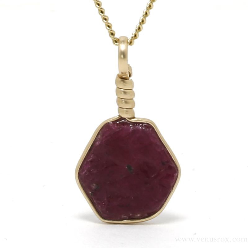 Natural Ruby Crystal Pendant from Madagascar | Venusrox