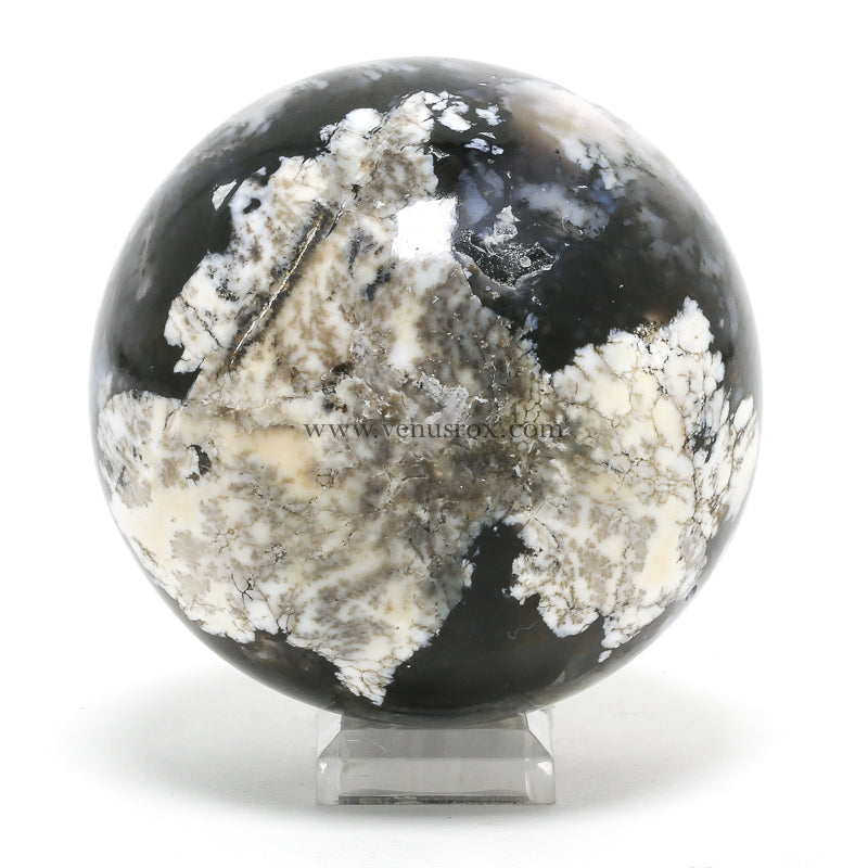 Merlinite (Dendritic Agate) Polished Sphere from New Mexico, USA | Venusrox