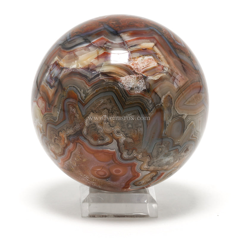 Crazy Lace Agate Polished Sphere from Mexico | Venusrox
