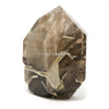 Smoky Phantom Elestial Quartz Part Polished/Part Natural Point from Brazil | Venusrox