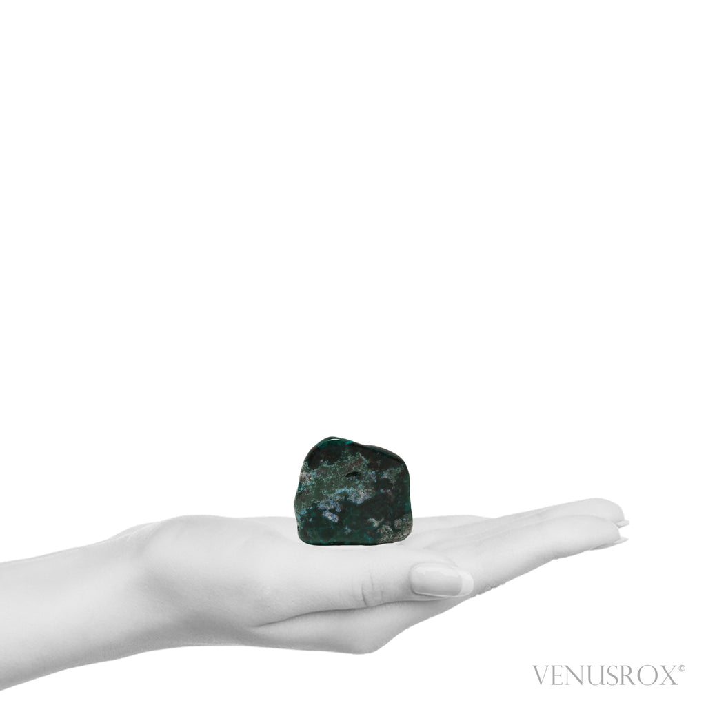 Dioptase with Matrix Part Polished/Part Natural Crystal from the Democratic Republic of Congo | Venusrox