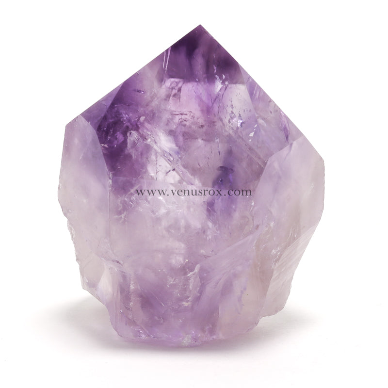 Amethyst Phantom Part Polished/Part Natural Point from Brazil | Venusrox