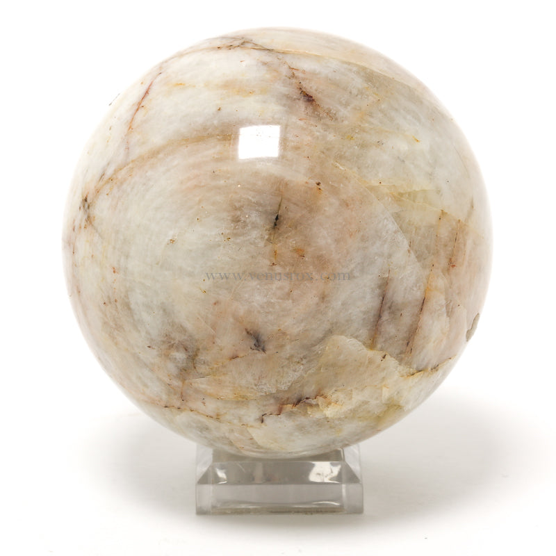Rainbow Moonstone Polished Sphere from Chupa, Karelia, Russia | Venusrox