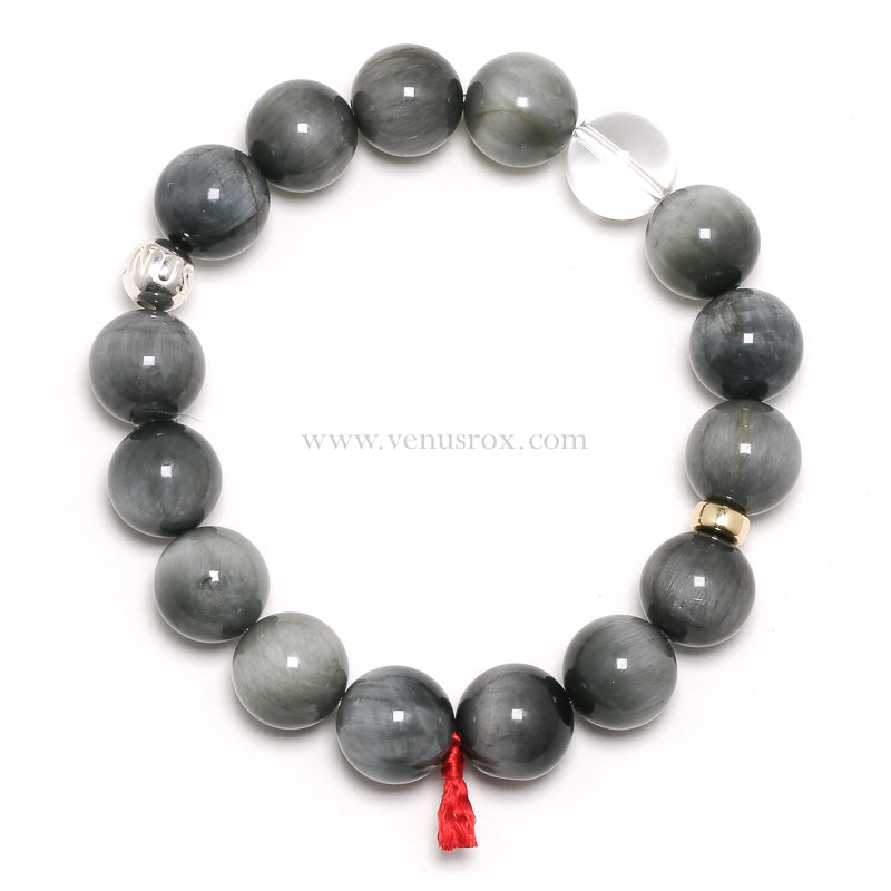Cats Eye 12mm Bead Bracelet from Tanzania | Venusrox