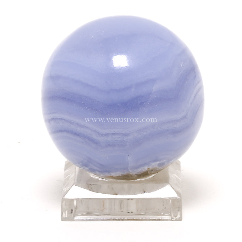 Blue Lace Agate Sphere from Namibia | Venusrox