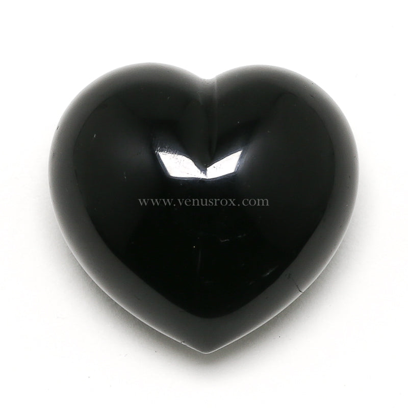 Black Tourmaline Polished Heart from Madagascar | Venusrox