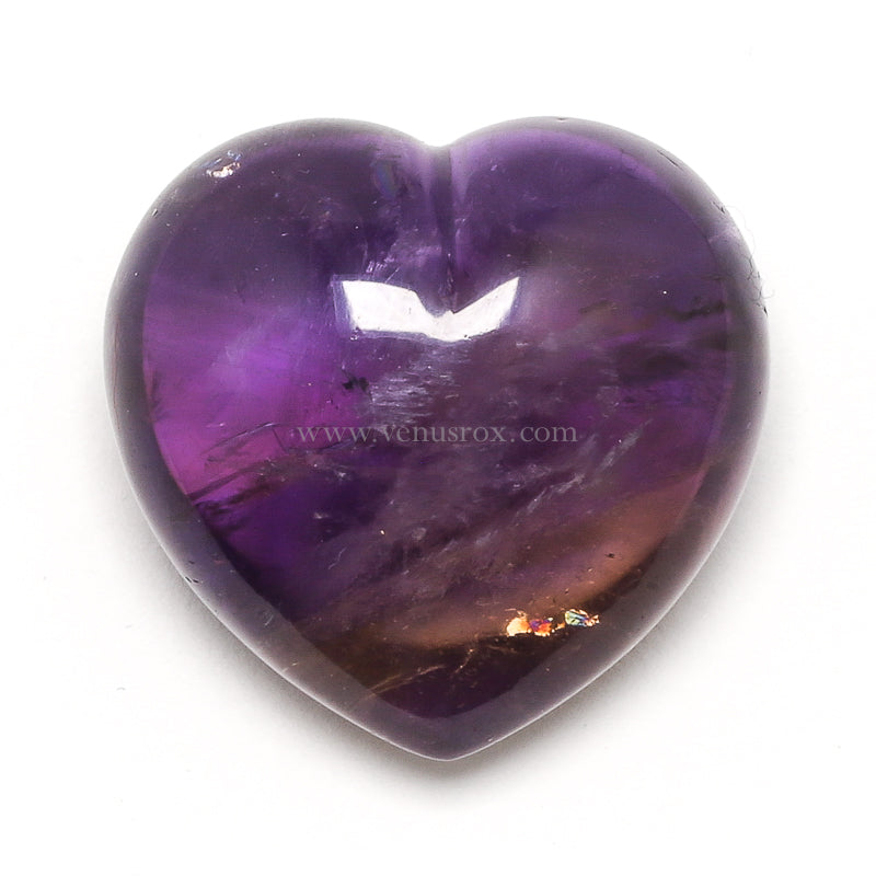 Ametrine Polished Heart from Bolivia | Venusrox
