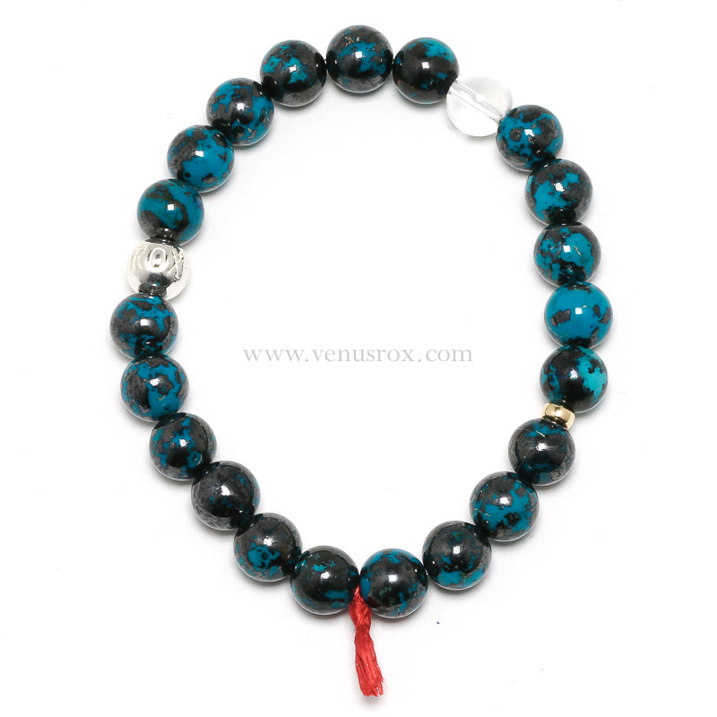 Chrysocolla and Cuprite Bracelet from Peru | Venusrox