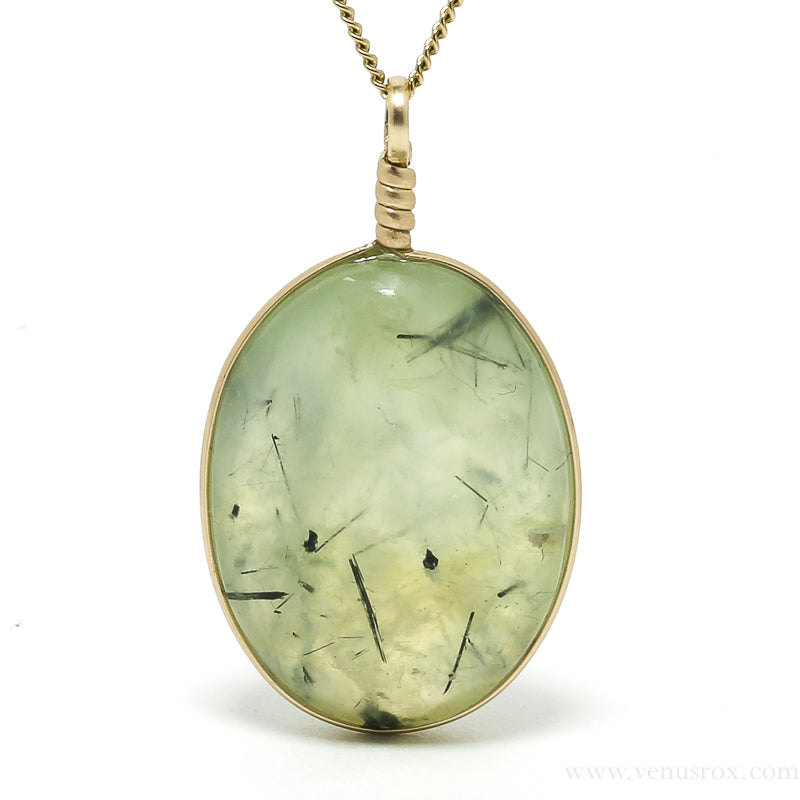 Prehnite with Epidote Polished Crystal Pendant from Mali | Venusrox