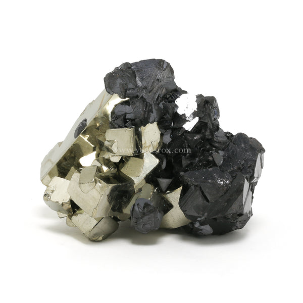Pyrite with Sphalerite Cluster from Huanzala Mine, Huallanca District, Huanuco Department, Peru | Venusrox