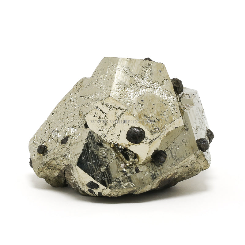 Pyrite with Sphalerite Cluster from Huanzala Mine, Huallanca District, Dos de Mayo Province, Huánuco Department, Peru | Venusrox
