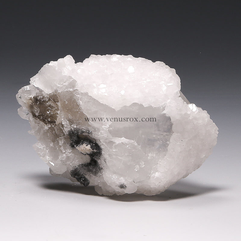 Clear Quartz with Calcite Natural Point from Trepča, Kosovo | Venusrox