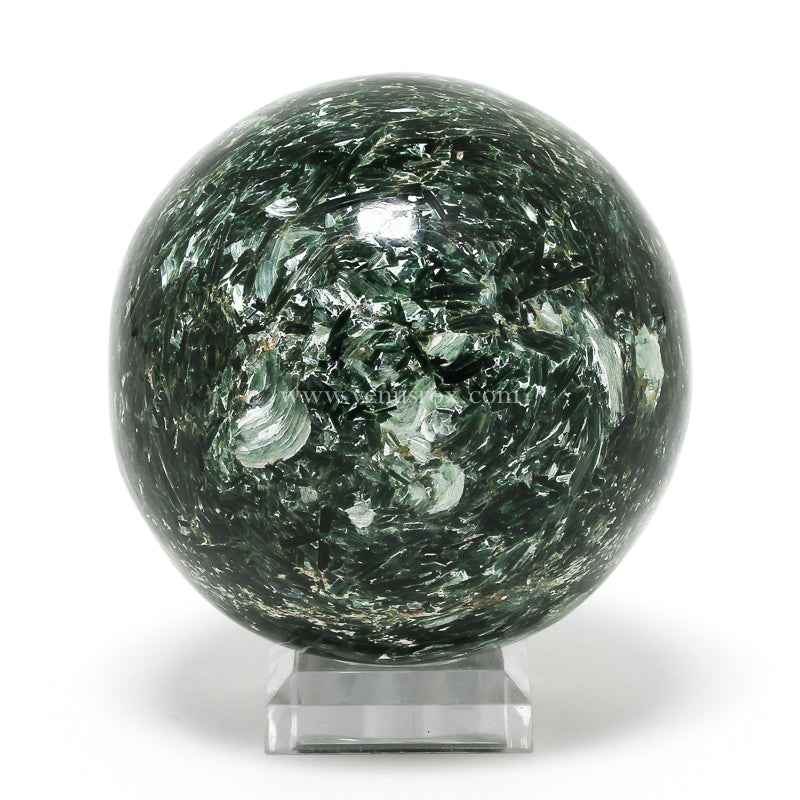 Fuchsite Polished Sphere from Karnataka, India | Venusrox